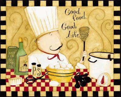 Good Food, Good Life-Dan Dipaolo-Art Print