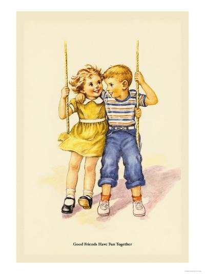 Good Friends Have Fun Together- Wireman-Art Print