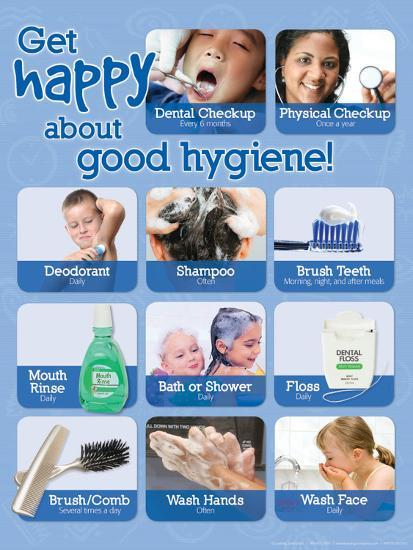 Good Hygiene poster--Laminated Poster