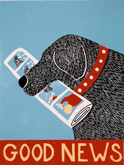 Good News Dog Black-Stephen Huneck-Giclee Print