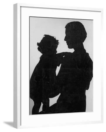 Good Silhouette of a Mother and Child--Framed Photographic Print