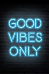Good Vibes Only - Blue Neon