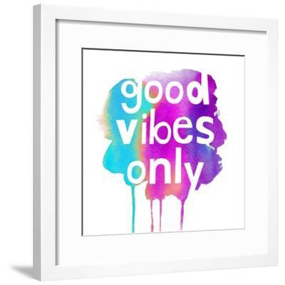 Good Vibes Only-Bella Dos Santos-Framed Art Print