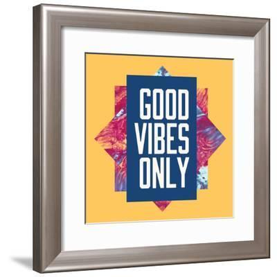 Good Vibes Only-Swedish Marble-Framed Premium Giclee Print