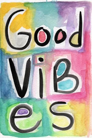 Good Vibes-Linda Woods-Art Print