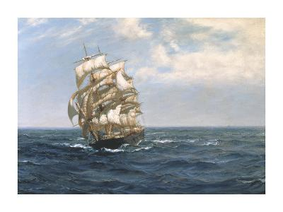 Good Weather - The 'Huguenot'-Montague Dawson-Premium Giclee Print