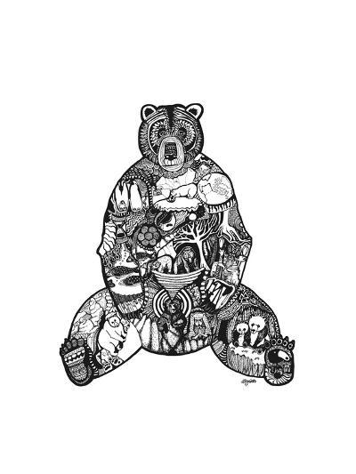 Goodbye Bear-Liz Ash-Art Print