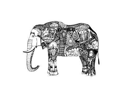 Goodbye Elephant-Liz Ash-Art Print