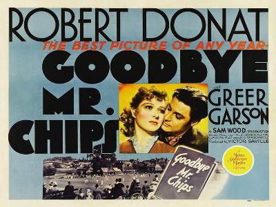 Goodbye Mr. Chips, UK Movie Poster, 1939--Art Print