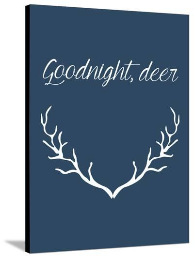 Goodnight Deer-Jetty Printables-Stretched Canvas Print