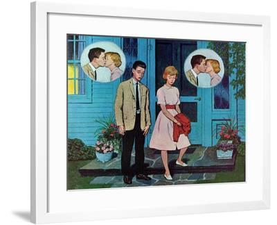 """""""Goodnight Kiss,"""" July 28, 1962-Amos Sewell-Framed Giclee Print"""
