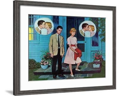 """Goodnight Kiss,"" July 28, 1962-Amos Sewell-Framed Giclee Print"