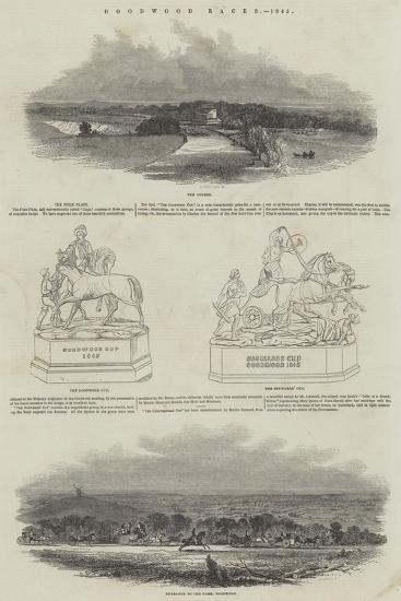Goodwood Races, 1845--Giclee Print