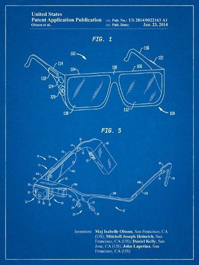 Google Glass Patent-Cole Borders-Art Print