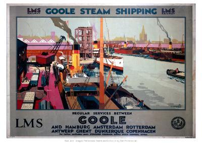 Goole Steam Shipping--Giclee Print