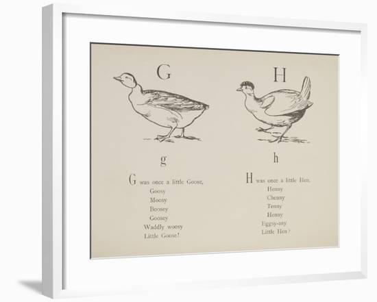 Goose and Hen Illustrations and Verses From Nonsense Alphabets Drawn and Written by Edward Lear.-Edward Lear-Framed Giclee Print