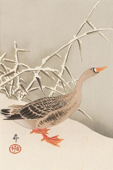 Goose and Reeds-Koson Ohara-Giclee Print