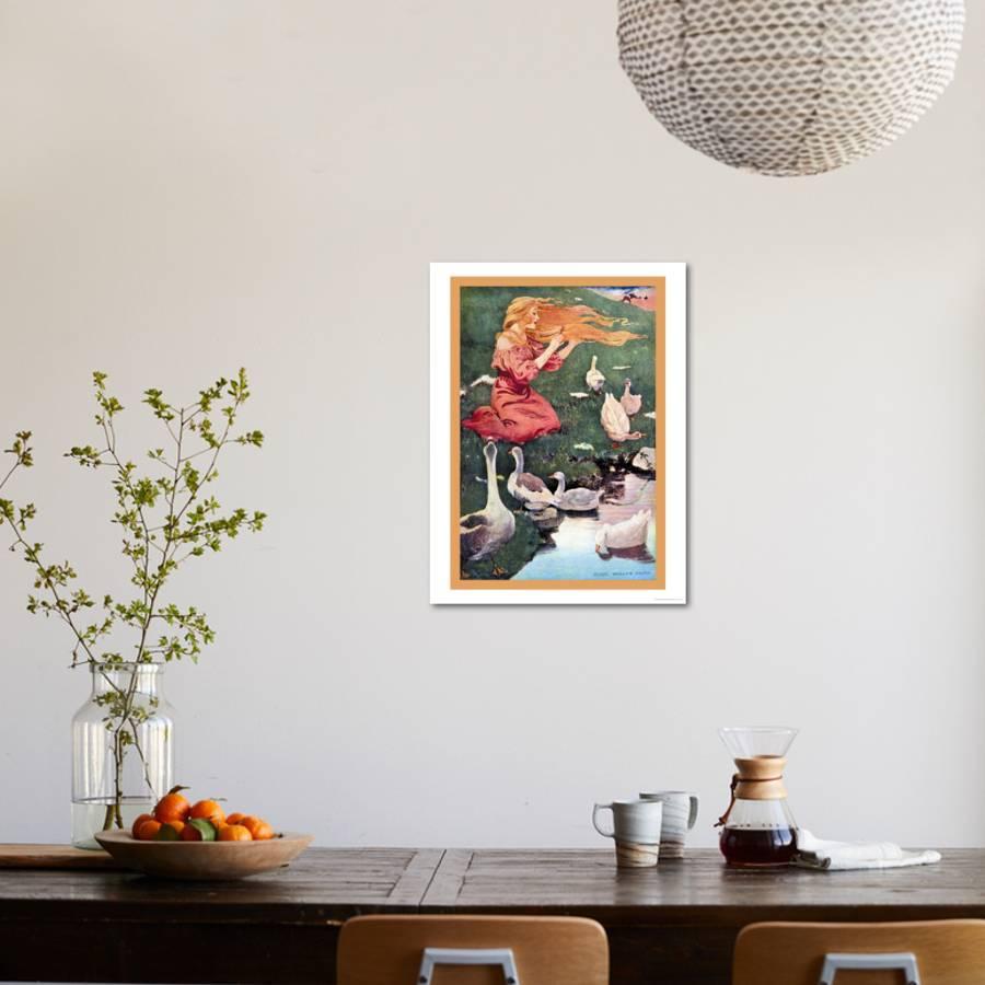 Goose Girl Art Print by Jessie Willcox-Smith | Art.com