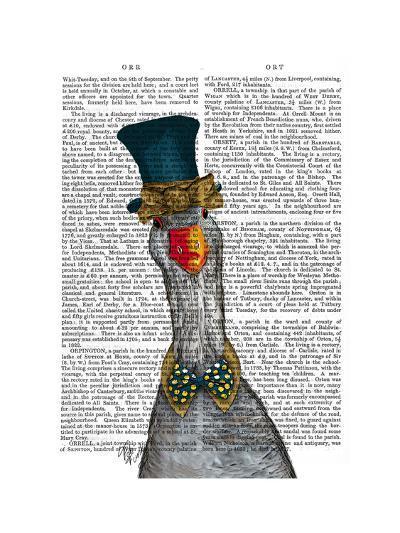 Goose in Blue Hat-Fab Funky-Art Print