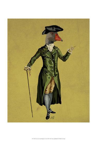 Goose in Green Regency Coat-Fab Funky-Art Print