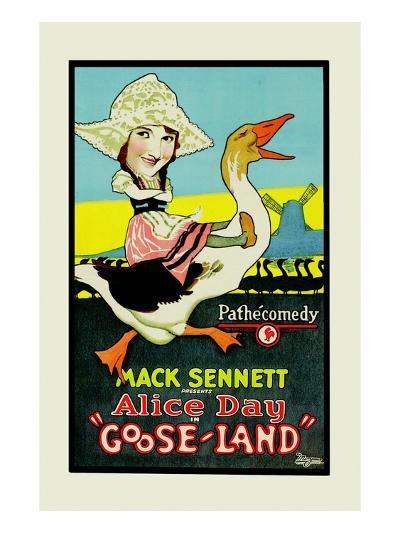 Gooseland or Goosland-Mack Sennett-Art Print