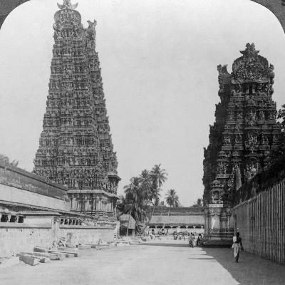 Gopuram, Sri Meenakshi Hindu Temple, Madurai, Tamil Nadu, India, C1900s-Underwood & Underwood-Photographic Print