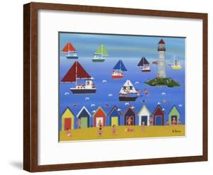 Boats in Lighthouse Bay by Gordon Barker