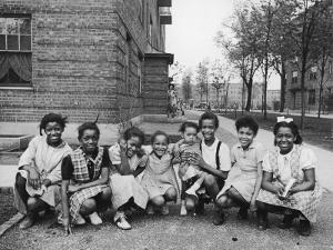 African American Girls Posing on the South Side of Chicago by Gordon Coster