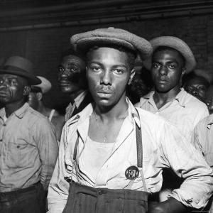African American Men Rounded Up After Wartime Race Riots Between Blacks and Whites by Gordon Coster