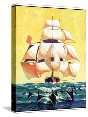 """Dolphins and Ship,""September 29, 1934"