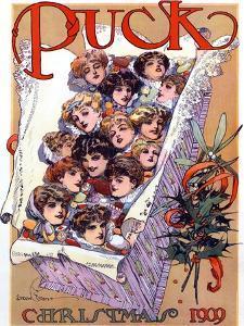 Puck Christmas 1909 by Gordon Grant