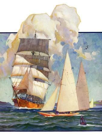 """""""Ship and Sailboats,""""July 16, 1932"""