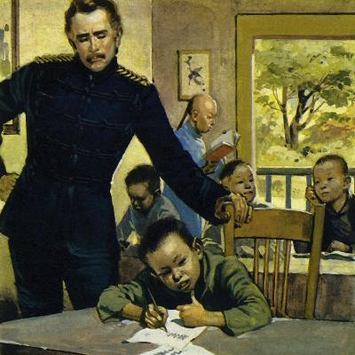 Gordon Helped Impoverished Children, Teaching Them in His House in Gravesend-Alberto Salinas-Giclee Print