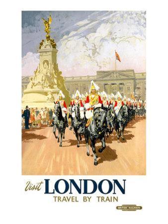 Visit London, BR Poster, 1950s