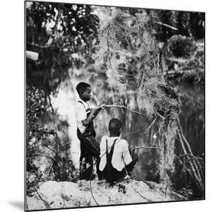 Albert Thornton's Grandson's Fishing by Gordon Parks