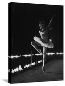 "Ballet Dancer Mia Slavenska Performing in the Ballet ""Arabian Nights."" by Gordon Parks"