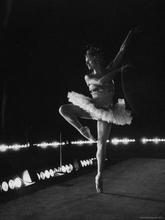"Ballet Dancer Mia Slavenska Performing in the Ballet ""Arabian Nights."""