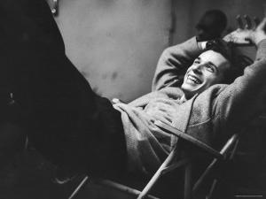 Brilliant Young Canadian Pianist Glenn Gould Laughing at a Columbia Recording Studio by Gordon Parks