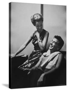 Conductor Leonard Bernstein Sitting with His Wife by Gordon Parks