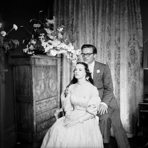Director Sidney Lumet and Gloria Vanderblit at their Wedding Reception, New York, August 1956 by Gordon Parks
