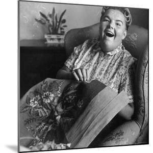 Eileen Farrell at Home Doing Needlepoint by Gordon Parks