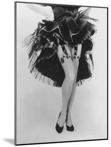 Fashion Shot of Elaborate Garter Made by Andre Richard by Gordon Parks