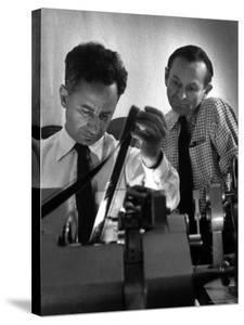 "Film Director Elia Kazan Editing ""Baby Doll"" Film by Gordon Parks"