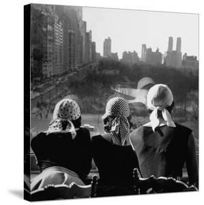 Girls Wearing Bandannas, Looking Out over Central Park by Gordon Parks