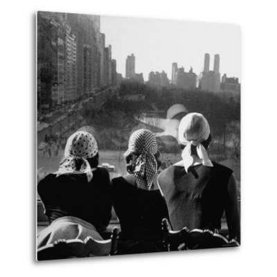 Girls Wearing Bandannas, Looking Out over Central Park