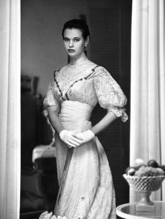 Gloria Vanderbilt Stokowski in Costume for Molnar's Play, The Swan