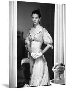 Gloria Vanderbilt Stokowski in Costume for Molnar's Play, The Swan by Gordon Parks