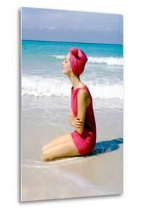 June 1956: Woman Modeling Beach Fashions in Cuba by Gordon Parks
