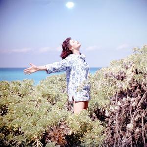 June 1956: Woman Modeling Beach Fashions in Cuba by Gordon Parks