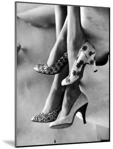 Models Displaying Printed Leather Shoes by Gordon Parks